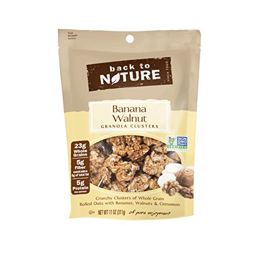 Back to Nature Non GMO Granola Clusters, Banana Walnut, - Milk Almond Almond Clusters