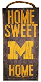 NCAA Michigan Wolverines 6'' x 12'' Home Sweet Home Wood Sign