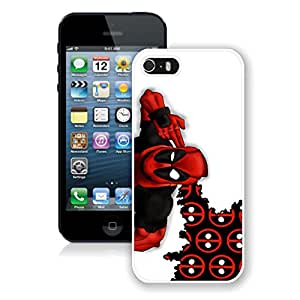 New Unique Designed Cover Case For iPhone 5S With Deadpool 3 iPhone 5s White Phone Case 108