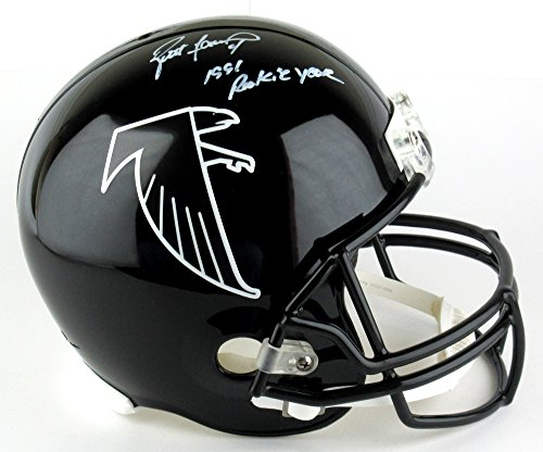 Helmet Brett Favre (Brett Favre Autographed Throwback Atlanta Falcons Authentic Pro Helmet 1991 Rookie Year)