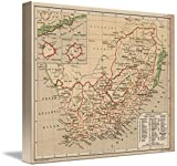 Wall Art Print entitled Vintage Map Of South Africa (1880) by Alleycatshirts @Zazzle | 44 x 36