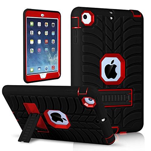 Shockproof Heavy Duty Armor Case for Apple iPad Air 2 (Black) - 6