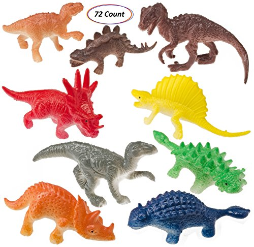 Prextex Box of Mini Dinosaurs (72 Count) Best for Cake Toppers by Prextex (Image #1)