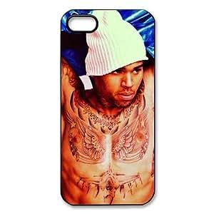 Vcapk Take U Down Popular Pop Singer Chris Brown Rihanna's BF iPhone 5,5S Hard Plastic Phone Case