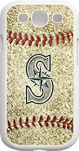 Onelee?? - MLB Team Logo, Seattle Mariners Logo Samsung GALAXY S3 Cases (White) - Seattle Mariners 3