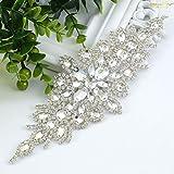 ShiDianYi Elegant Sash/Wedding Applique - Rhinestones Hot Fix or Sew On