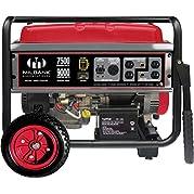 Milbank MPG75003E Portable Generator with Electric Start, 7,500 Watt
