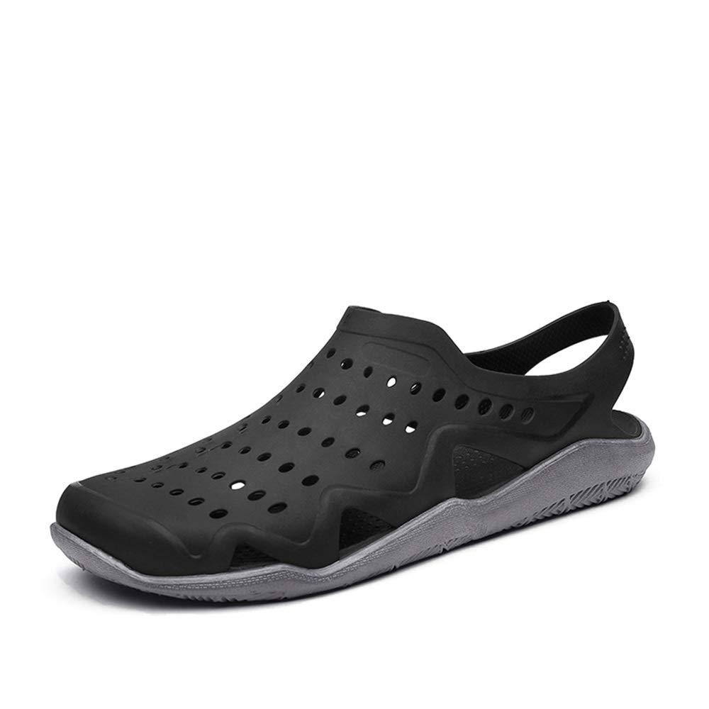 Sandales, Sabots pour Hommes: Chaussures Nautiques. Slip on Style Plastique. Correspondance de Couleur Creuse. Haute-élastique.