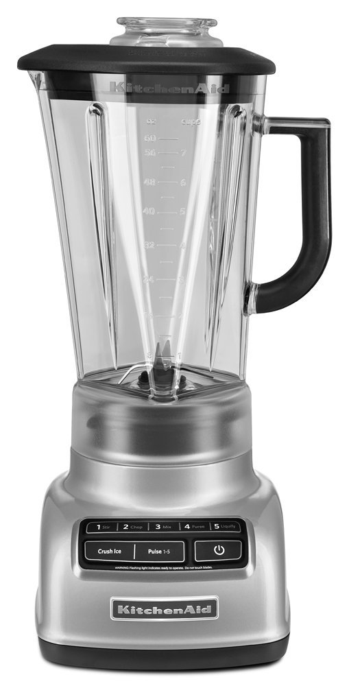 KitchenAid KSB1575MC 5-Speed Diamond Blender, Metallic Chrome (Renewed)