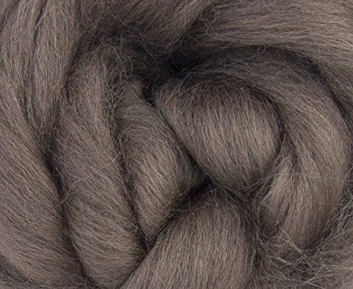 (Corriedale Wool Roving One Ounce Assorted Colors for Felting and Spinning NZ (Pewter))