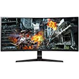 LG 34GL750-B 34 Inch 21:9 Ultragear Curved WFHD (2560 x 1080) IPS 144Hz G-SYNC Compatible Gaming Monitor