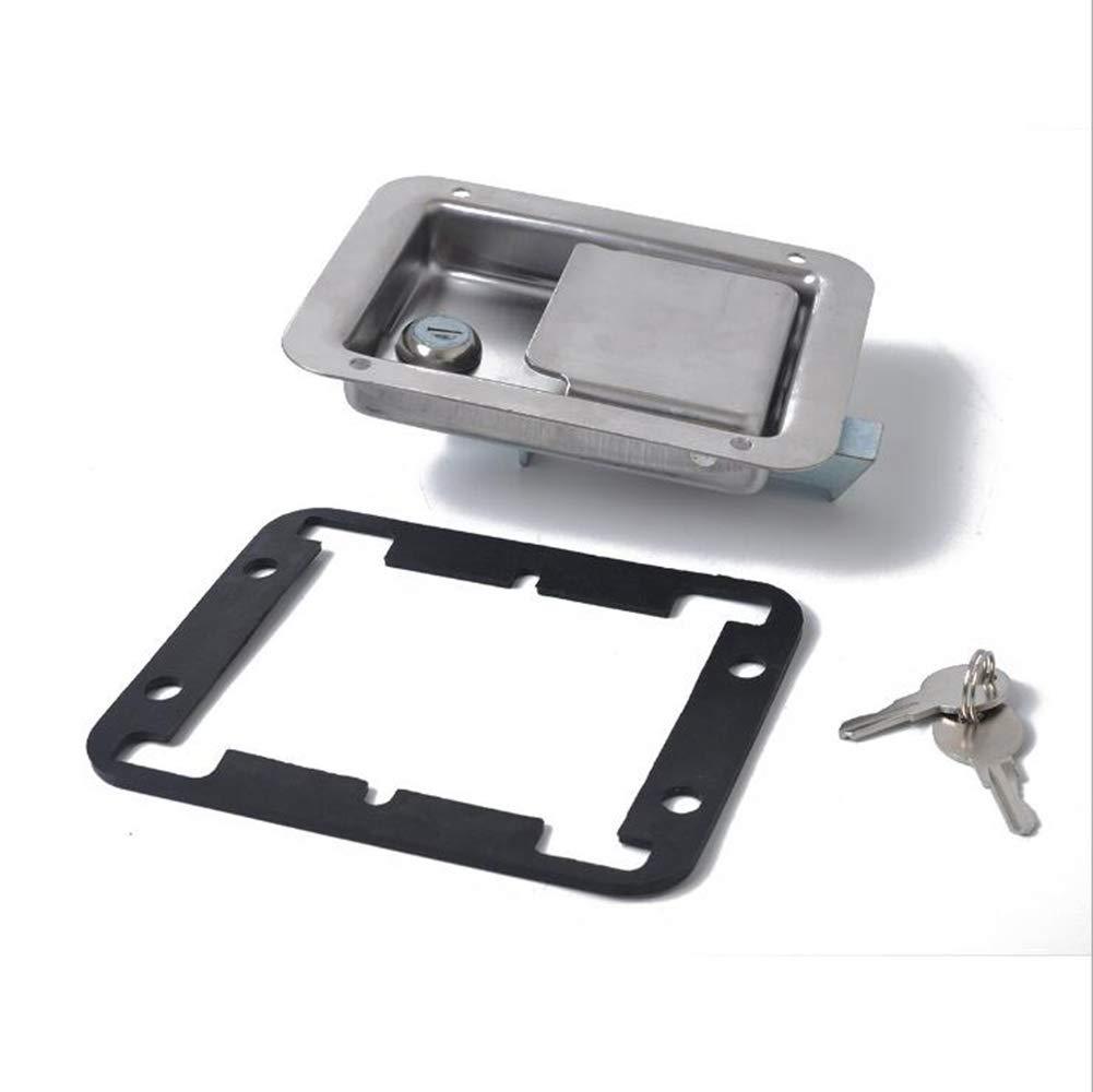 AUTLY Stainless Steel Trailer RV Travel Lock Anti-Theft Paddle Door Tool Box Lock for Caravan Truck Camp Motorhome Patrol Car
