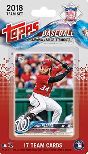 2018 Topps National League All Stars Factory Sealed Limited Edition 17 card team set with Bryce Harper, Clayton Kershaw, Buster Posey and Max Scherzer plus