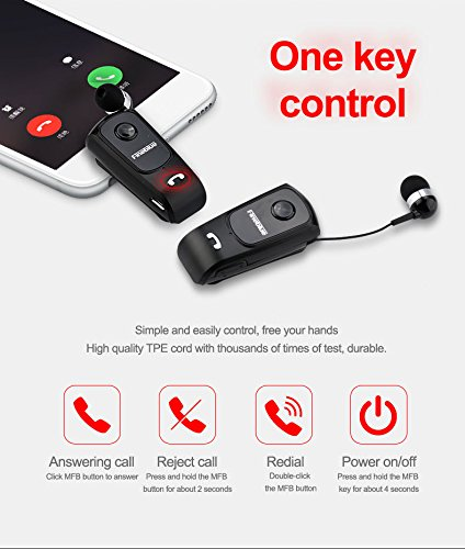 Amazon.com: Fineblue F920 Wireless driver auriculares Bluetooth Earphone Vibration Wear Clip Stereo Sport Headset for Driving SPROTS Black: Cell Phones & ...