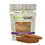 Nature Gnaws Smoked Salmon Jerky Strips (8 oz) - 100% Natural Grain Free Dog Treats