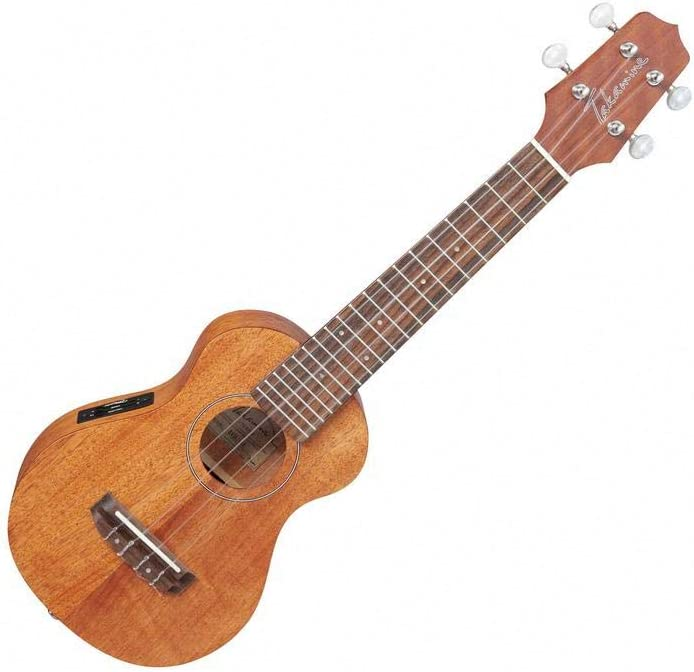 TAKAMINE egus1ukelele madera de caoba guitarra electroacústica Natural