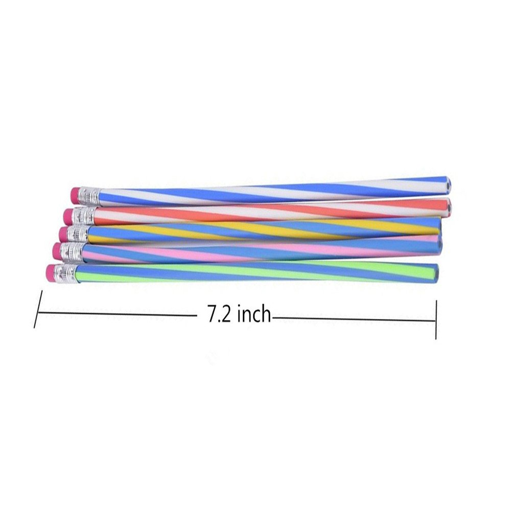 Haawooky 35 Pieces Flexible Soft Pencil Magic Bend Pencils for Kids Children School Fun Equipment by Haawooky (Image #2)