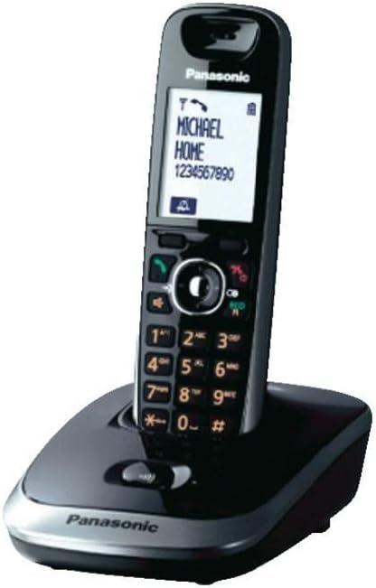 Panasonic KX-TG7511SPN - Teléfono fijo digital (inalámbrico, pantalla LCD, alarma), negro: Amazon.es: Electrónica