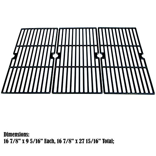 Direct store Parts DC121 Porcelain Cast Iron Cooking grid Replacement Charbroil ,Kenmore ,Master Chef Gas ()