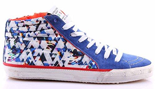 Scarpe Uomo Sneakers SERAFINI Sport Art 4190 Caracas 3D Blue Multicolor Nuove