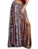 Womens Gypsy Boho Tribal Floral Casual Maxi Beach Skirt Dress