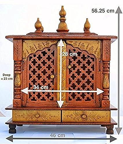 b0eb26ff4 Buy Jodhpur Handicrafts Home Temple  Wooden Temple  Pooja Mandir ...