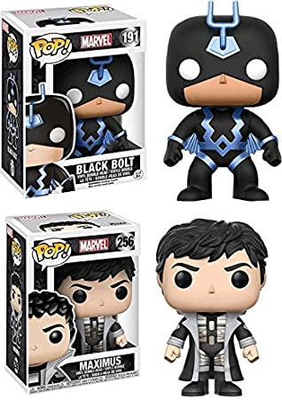 Funko POP! Marvels Inhumans: Black Bolt (Blue Costume) PX Exclusive + Maximus - Vinyl Bobble-Head Figure Set NEW: Amazon.es: Juguetes y juegos