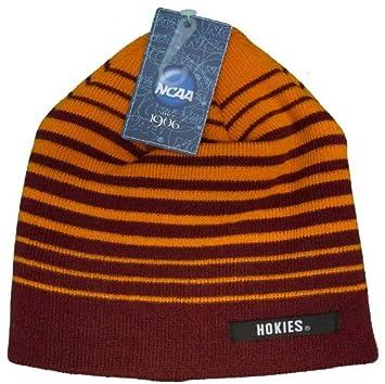 b92f3eade ... free shipping virginia tech hokies striped beanie hat knit skull cap  ae01c e6b40 ...