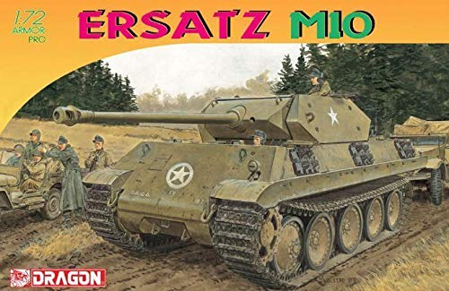 Dragon Models Ersatz M10 Armor Pro Series Tank Model Building Kit, 1:72 Scale
