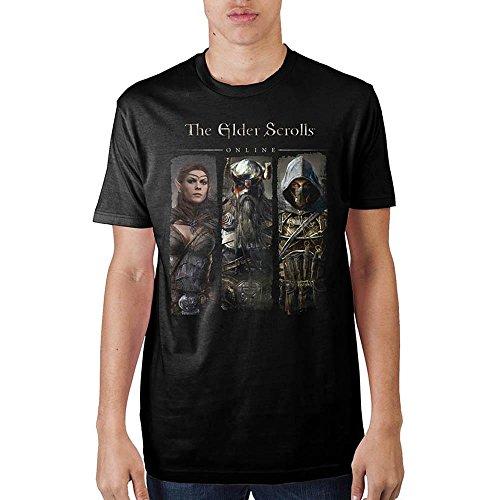 Elder Scrolls The Online Characters Men's T-shirt (S) (T-shirt Scroll)