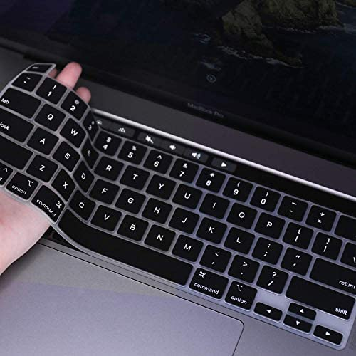 FORITO Ultra Thin Keyboard Cover Compatible MacBook Pro 16 inch A2141/ New MacBook Pro 13 Inch 2289 2251 2020 ReleaseMagic Keyboard Only -Black