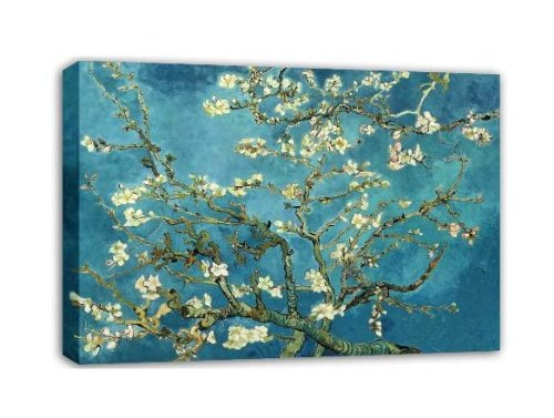 Wieco Art Huge Gallery Wrapped Giclee Canvas Print by Classic Van Gogh Reproductions, Almond Blossom Modern Canvas Wall Art Ready to Hang for Living Room Bedroom Home Office Decorations (Art Wall Decor Affordable)