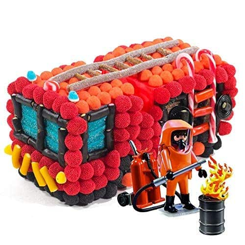 Tarta chuches Playmobil camión de bomberos: Amazon.es: Handmade
