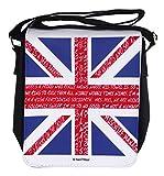 Nani?Wear British Flag Union Jack 50 Years of British Fandom Small Geek Messenger Bag