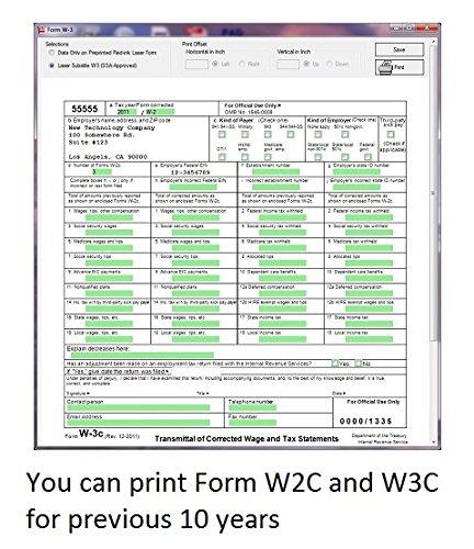 Amazon Ezw2correction 2016 Form W 2c W 3c Software Basic Version