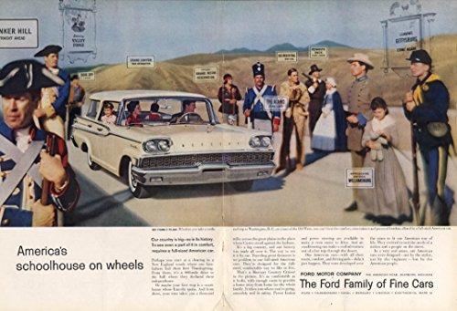 (America's schoolhouse on wheels Mercury Country Cruiser ad 1959 NY)