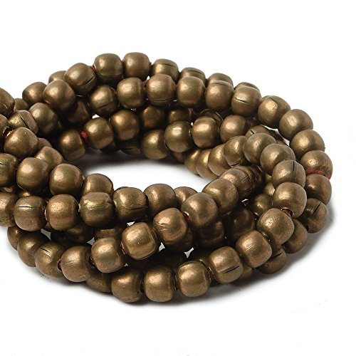 4mm Raw Copper Plain Round Beads 8 inch 52 (Plain Round Beads)