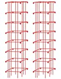 Square Heavy Gauge Extra Tall Tomato Cage, Set of 2, Red
