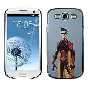 Shell-Star Arte & diseño plástico duro Fundas Cover Cubre Hard Case Cover para SAMSUNG Galaxy S3 III / i9300 / i747 ( Superhero Costume Cape Cartoon Comic Robin )