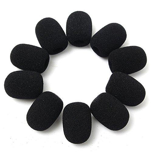 10pcs / bag 8m Auricular almohadillas de repuesto de espuma Micrófono de la cubierta de la esponja