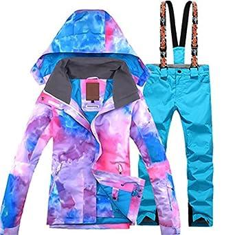 LEIT YFF Traje de esquí Mujer Chaqueta Impermeable ...