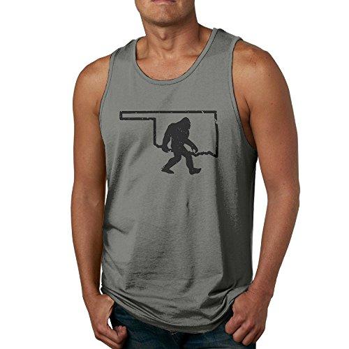 Sasquatch Bust (Mens Oklahoma Bigfoot Sasquatch Tank Top Workout Tank Tops Undershirts T-Shirt)