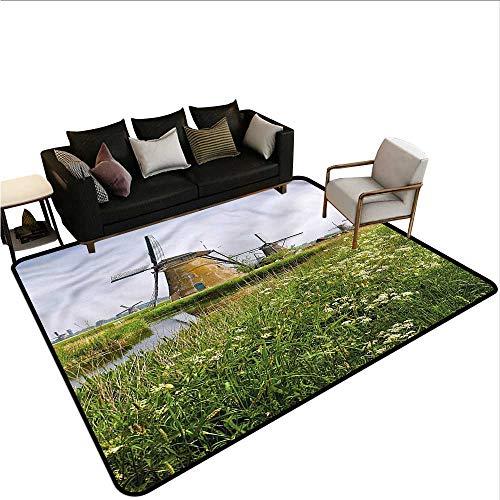 - Windmill,Anti-Slip Coffee Table Floor Mats 60
