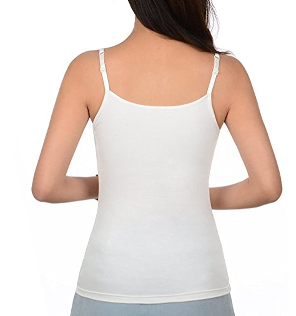 KEALLI Camisolas de Mujeres con Inserto de Sujetador Camisetas sin Mangas de Tirante Straps Ajustables Camisolas Ejercicio Acolchadas: Amazon.es: Ropa y ...