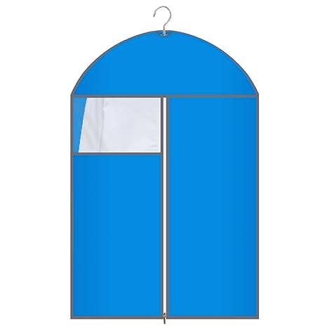 QFFL Bolsas ahorradoras de Espacio Colorido Transparente Cubierta de Polvo/a Prueba de Humedad Bolsa