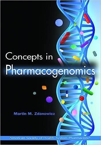 Concepts in pharmacogenomics 9781585282340 medicine health concepts in pharmacogenomics 1st edition fandeluxe Image collections