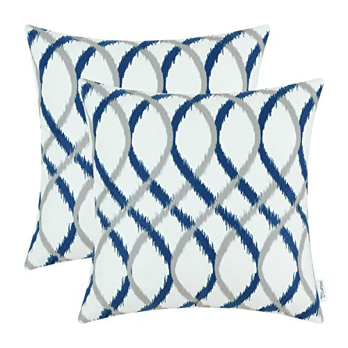 blue and gray throw pillows - 1