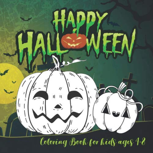 Cartoon Halloween Coloring Pages (Halloween Coloring Books for kids ages 4-8: A Spooky Coloring Book For Creative Children pumpkins design (halloween coloring pages for)
