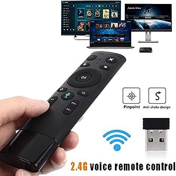Calvas - Micrófono inalámbrico Q5 con mando a distancia y receptor USB para Smart TV Android Box Projector: Amazon.es: Bricolaje y herramientas