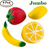 WATINC 4inch fruit set (include Strawberry Banana Mango...